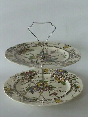 Alfred Meakin Medway 2 Tier Cake Stand Plates • 14£