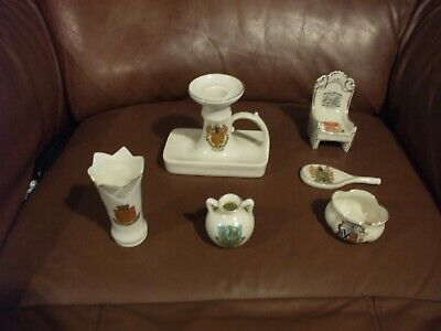 Joblot Of 6 Pieces Of Arcadian Crested China - Some Rare • 22.25£