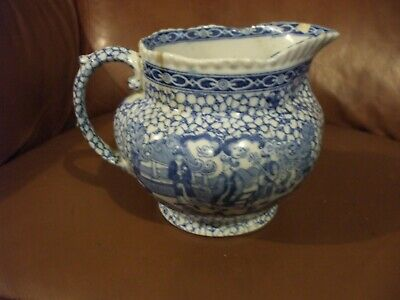 Rare - Adams  Chinese Style Blue And White Jug Rd.no.623294 • 42.25£