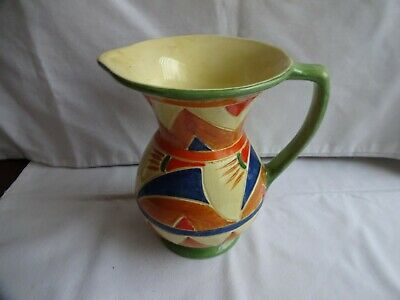 Art Deco Geometric Design Decoro Jug By  Canning Pottery Height 16 Cm • 16£