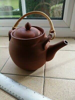 Yixing Chinese Teapot With Bamboo Handle • 15£