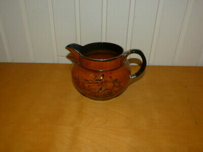 Collectable Vintage Arthur Wood Medium 2 Tone Brown Hunting Scene Pouring Jug • 18.99£