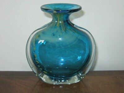Mdina By Michael Harris Blue Vase Signed • 22£