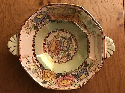 Maling Ware Peony Rose Lustre Hexagonal Double Handed Bowl Vgc • 10£