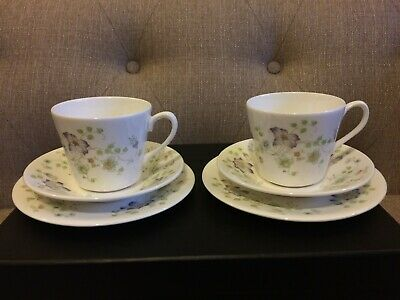 Queen Anne Bone China - Tea Cup, Saucer And Side Plate Trio X 2 - Pattern 8649 • 9.99£