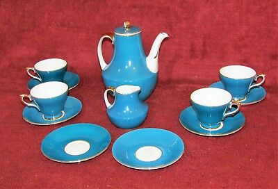 Stunning Sutherland Bone China Turquoise Pattern 12 Piece Tea / Coffee Pot Set  • 19.99£