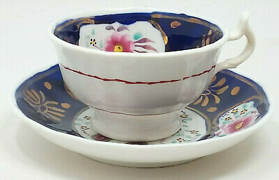 Antique Gaudy Welsh Floret Pattern Cup And Saucer Duo • 23.15£