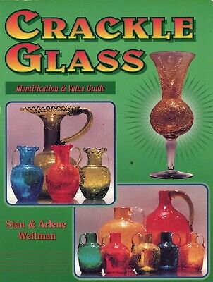 Vintage Crackle Glass Identification - Types Makers Dates / Scarce Book + Values • 20.36£