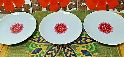 3 Thomas Germany Fine China Side Plates With Pinwheel Print Vintage • 6£