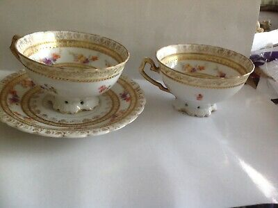 St Kilian Germany Porcelain Gilded Courting Couple Cup & Saucer,Cup • 14.50£