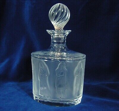 Lalique France Crystal Femmes Antique Smoked Glass Decanter In Great Condition • 399£
