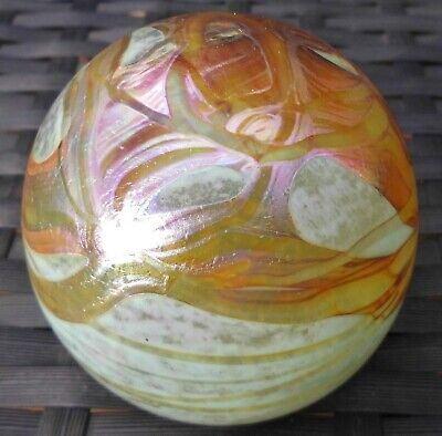 Ditchfield Style Iridescent Trails Large Glass Paperweight Signed • 39.99£