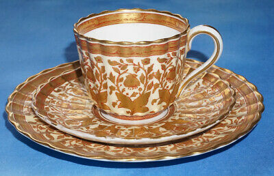 Copeland Spode Floral Gilded TRIO - Pattern 5016 - C1887 • 27.99£