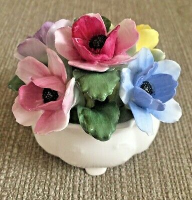 Aynsley Hand Painted October Anemone Posy • 9.99£