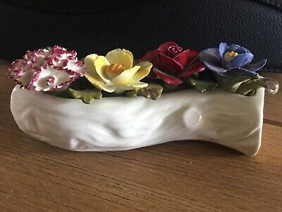 Aynsley Hand Painted Flower Posy In A Branch. • 4.99£
