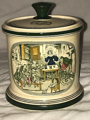 Antique Adams Pottery Charles Dickens Container  Jar And Cover • 20£