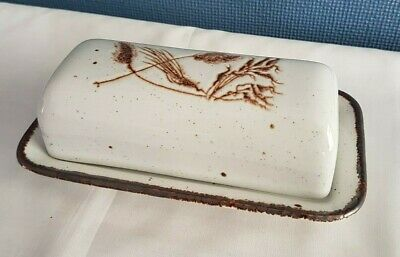 Vintage C.1970s Midwinter Stonehenge 'Wild Oats' Butter Dish With Lid • 20£