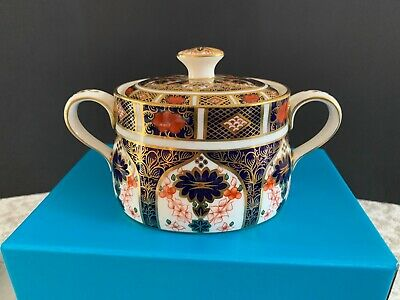 ROYAL CROWN DERBY 1128 Imari LIDDED SUGAR BOWL • 145£
