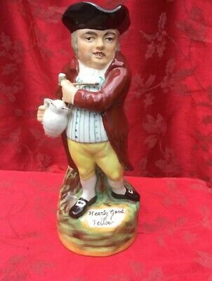 Staffordshire Toby Jug Hearty Good Fellow Nice Original Old Toby Jug • 35£