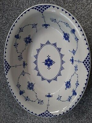 Vintage Masons Ironstone England.Denmark Blue & White Pottery, Great Condition • 7.50£