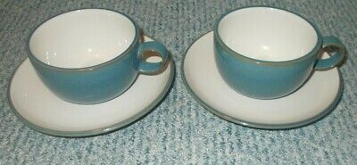 M & S Marks & Spencer Hamilton Blue Cup And Saucer X 2 • 14.99£