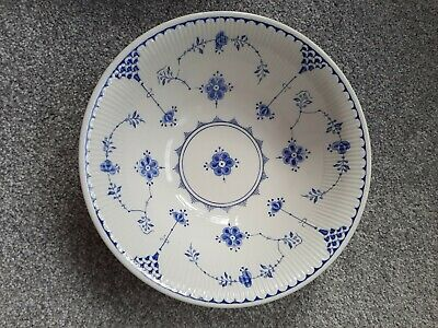 Vintage Furnival Blue/white Denmark Large POTTERY Serving Dish,great Condition • 16£
