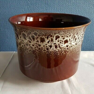 Vintage 1960s Eastgate Withernsea Pottery Planter - Brown / White Mottled • 12.50£