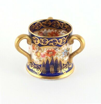Crown Staffordshire Miniature Tyg, Early 20th Century • 8.20£