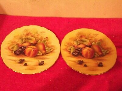 Aynsley Orchard Gold 21 Cm Plates • 18£
