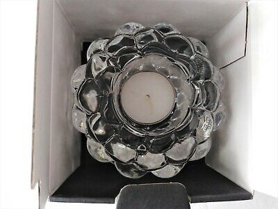 Crystal Candle Holder, 'Orrefors' From Sweden, New In Box, Heavy • 10.95£