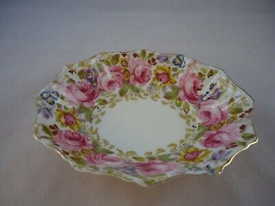 Royal Albert Serena Nut & Candy Dish China 2nd Quality Vintage READ DESCRIPTION • 12.99£