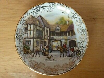 Stirrup Cup  Hunt Scene Midwinter Staffordshire Pottery Small Plate • 8.50£
