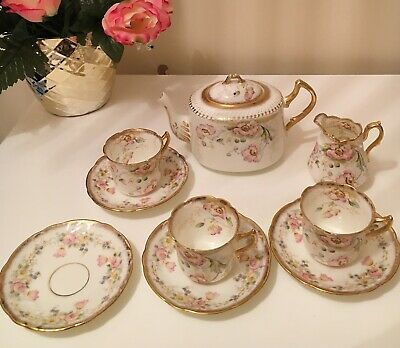 Pretty Antique Tea Set China By Redfern & Drakeford Made C 1892 • 34.99£