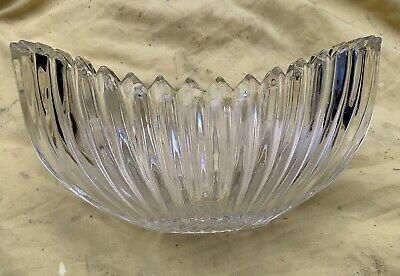 Vintage Solid Cut Glass Dish Bowl Collectable • 15£