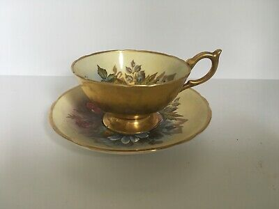 Aynsley Gold Cup And Saucer Signed By J A Bailey • 250£