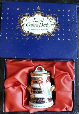 Royal Crown Derby Tree Of Life Miniature Milk Churn 1996 Boxed • 49.99£