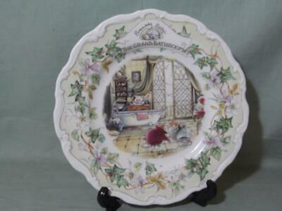 Royal Doulton Brambly Hedge  The Grand Bathroom  Collectors Plate 8  • 19.99£