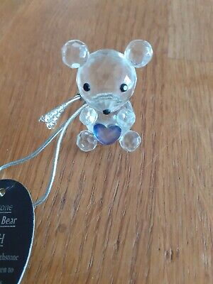 Crystal Clear Collectables Birthstone Guardian Bear (March) • 6.95£