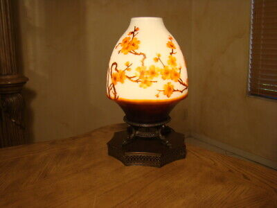 VINTAGE 1960s  EMILE GALLE SIGNED STYLE GLASS LAMP • 190.18£