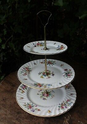 Minton Marlow S-309 Floral Sprays 3 Tier Cake Stand • 19.99£