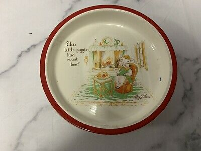 Stunning Peggy Gibbons This Little Piggie Roast Beef Midwinter Nursery Baby Dish • 17.99£