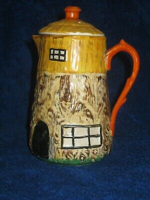 Hancock's Ivory Ware Hand Painted Cottage Jug With Lid. 1930's • 3.50£
