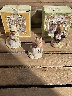 Royal Doulton Brambly Hedge The Wedding Figurines Plus Clover • 45£