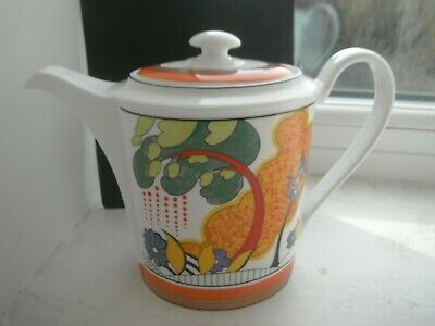 CLARICE CLIFF  CORNWALL   COFFEE POT  By WEDGWOOD -  SUPER • 30£