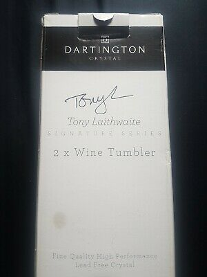 Dartington Crystal 2 Wine Tumblers Under Great Condition • 2.51£