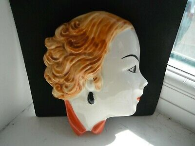 CLARICE CLIFF STYLE ART DECO  FACE MASK  By MOORLAND POTTERY  • 26£