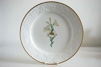 Antique Porcelain Botanical Plate - Lilies - Attributed To Spode - C.1820 • 4.99£