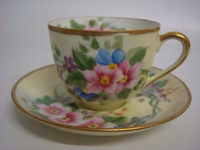 Vintage Noritake Hand Painted Floral And Gilt Tea Cup & Saucer Signed • 29.99£