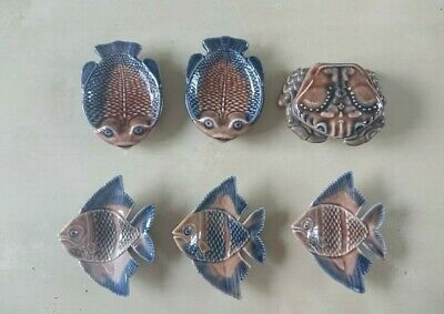 Collection Of Wade Pottery; Flounder Fish, Angel Fish, Starfish And Crab • 5£