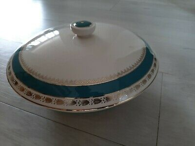 Crown Ducal AGR Turquoise Blue/Green & Gold Pattern Tureen With Lid (26) • 12£